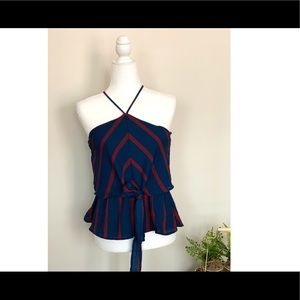 Monteau medium sized blue and red top